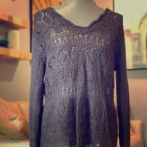 Lace knit sweater